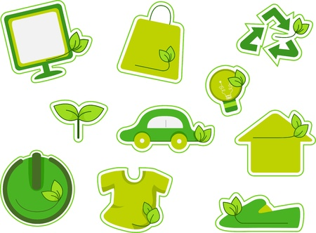 recycling campaign: Illustration of Environment Related Design Elements