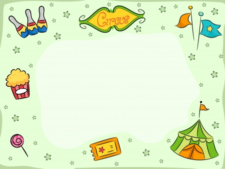 carnival border: Background Illustration Featuring Circus Related Items