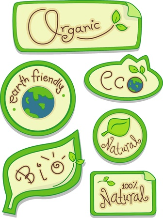 advocacy: Illustration Featuring Eco-friendly Stickers