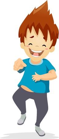 Illustration d'un garçon Laughing Out Loud