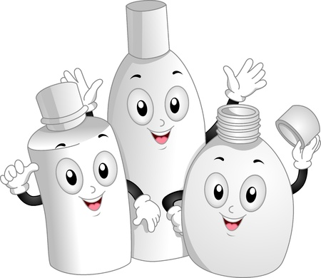 toiletry: Mascot Illustration of Toiletry Bottles Waving Happily