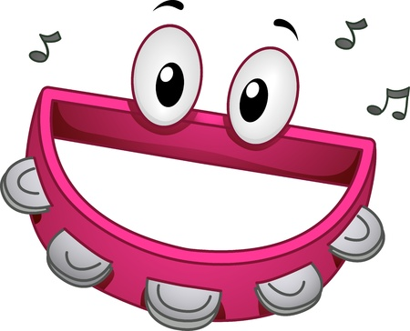 Mascot Illustration of a Tambourine Smiling Happily illustration