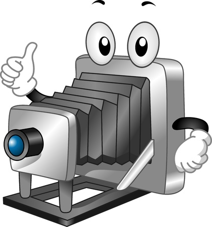 plate camera: Mascot Illustration of a Plate Camera Giving a Thumbs Up