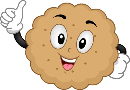 biscuits: Mascot Illustration of a Biscuit Giving a Thumbs Up Stock Photo