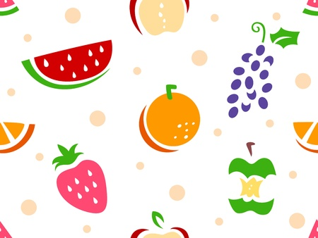 Illustration of Seamless Fruit Stencil Background  Stock Illustration - 16552615