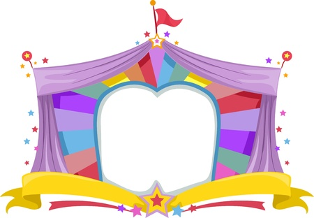 Illustration of a Circus Tent Banner Stock Illustration - 16552831