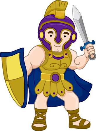 Illustration of an Ancient Greek Warrior illustration