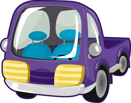 toy truck: Illustration of a Purple Toy Truck Stock Photo