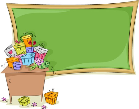 teachers: Background Illustration Featuring a Teacher Stock Photo