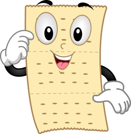 cracker: Illustration of Mascot Cracker Stock Photo