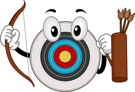 archery target: Illustration of an Archery Board Mascot