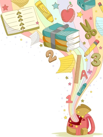 numbers clipart: Illustration of Education Elements Background