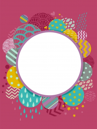 Background Illustration of an Abstract Frame with a Whimsical Design illustration