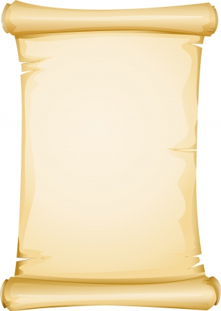 old scroll: Illustration Featuring a Yellowish Blank Scroll Stock Photo