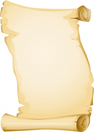 papyrus: Illustration Featuring a Yellowish Blank Scroll Stock Photo