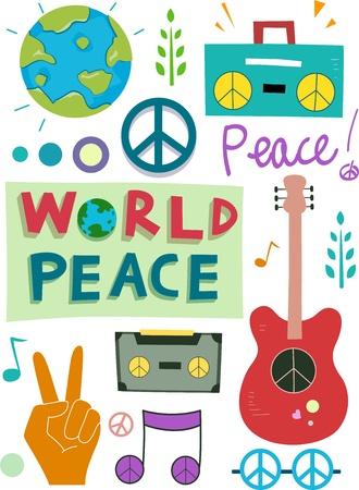 casette: Illustration of Different Peace Design Elements
