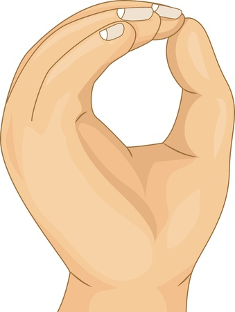 clip art numbers: Illustration of Kids Hand showing a Zero Hand Count