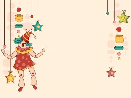 marioneta de madera: Ilustración de fondo de marioneta