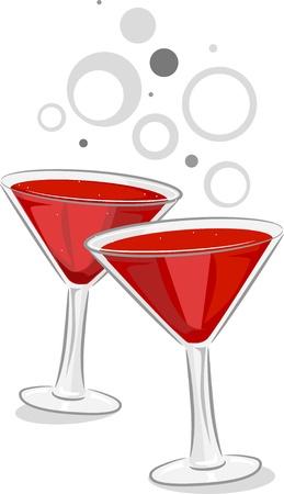 clip art wine: Illustration of Wine Toast Stock Photo