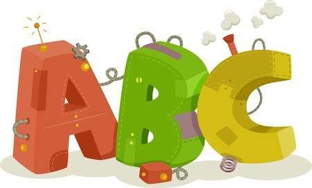 kiddie: Illustration of colorful Mechanical ABC