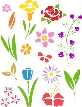 Illustration of Flowers Stencil