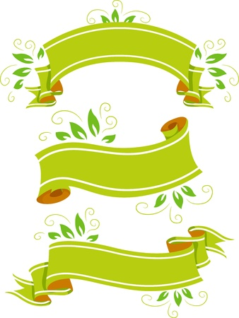 Illustration of Green Blank Eco-Banners