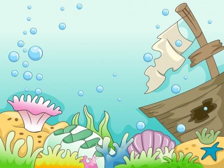 artifact: Illustration of Underwater Shipwreck