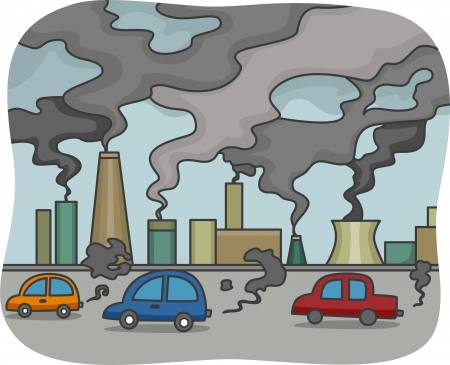 pollution: Illustration of Air Pollution