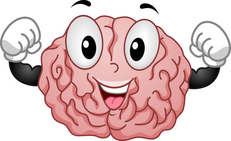 strong: Illustration of Strong Brain Mascot