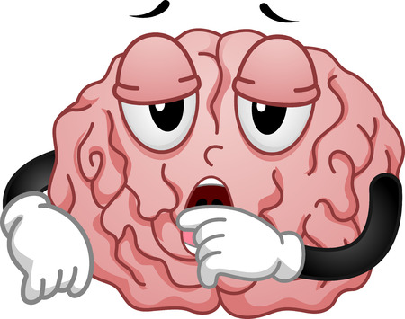 brain clipart: Illustration of Tired and Sleepy Brain Mascot