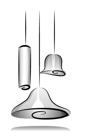 fixtures: Illustration of Light Fixtures in Black and White