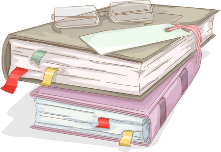 note book: Illustration of Books with Eyeglasses