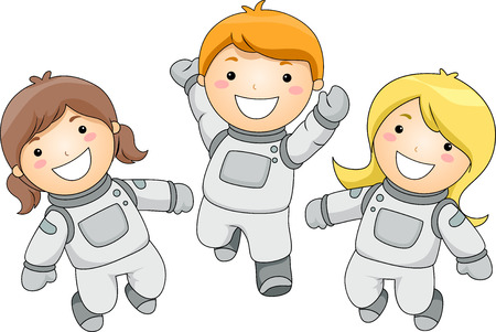 Illustration of Kid Astronauts illustration