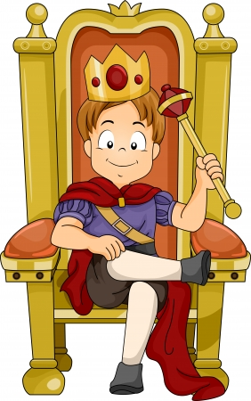 highness: Illustration of a Kid Boy Prince Sitting on His Throne