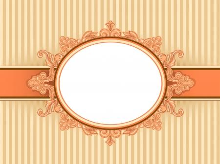 embellished: Illustration of a Vintage Frame with a Baroque Design