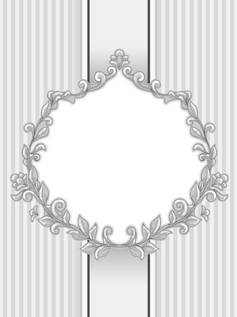 semicircular: Illustration of a Vintage Frame with a Baroque Design