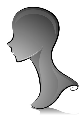 distinguishing: Black and White Illustration of a Mannequin with No Distinguishing Features
