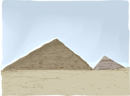 Illustration Featuring the Great Pyramids of Egypt Stock Illustration - 24226774