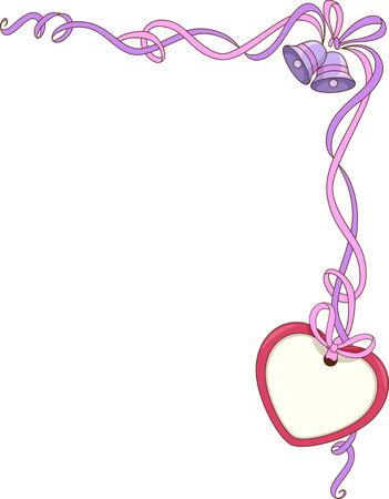 dangle: Corner Border Illustration Featuring Wedding-Related Items