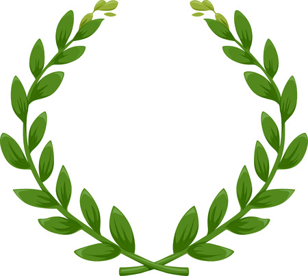 Illustration of a Green Laurel Wreath illustration
