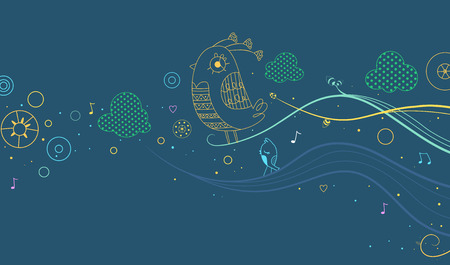 greenish: Illustration of a Colorful Abstract Banner Design Set Against a Greenish Background