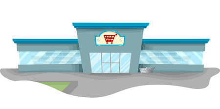 spacious: Illustration Featuring a Spacious Grocery Store