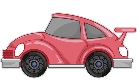 jazzy: Illustration Featuring a Stylish Pink Car Stock Photo