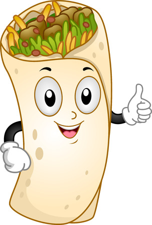burrito: Mascot Illustration Featuring a Burrito Giving a Thumbs Up