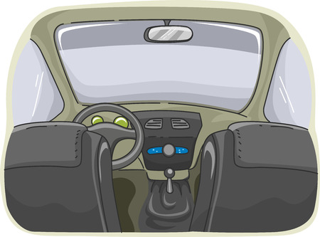 lefthand: Illustration Displaying the Interior of a Car