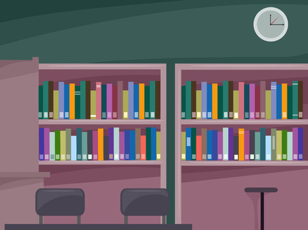 Illustration Featuring a Personal Library Filled with Different Books illustration