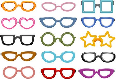 Illustration Featuring Different Eyeglasses Designs illustration