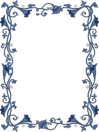 flowery: Background Illustration Featuring a Flowery Frame