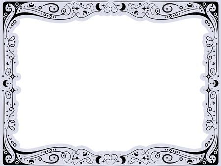 curlicue: Frame Illustration with a Curlicue Design