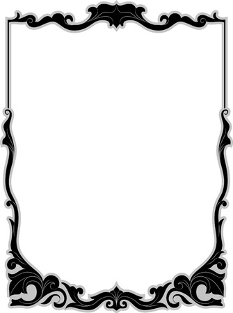 gothic design: Illustration of a Frame with a Filigree Design